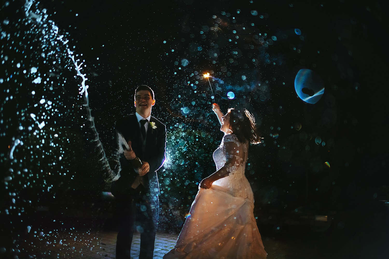 Rainy wedding day photo