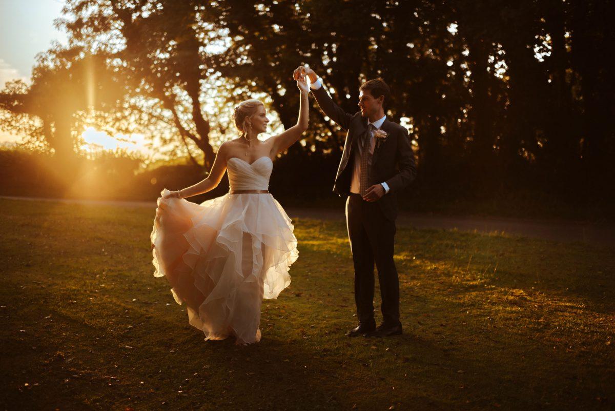 Sunset Dance at Grittleton House Wedding