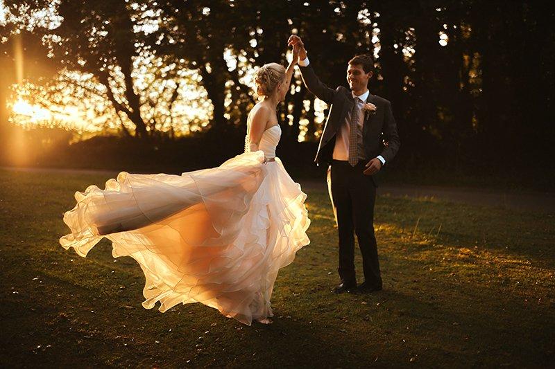 wedding twirls at Grittleton House